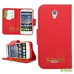 Alcatel OneTouch POP Astro 5042T Wallet Case Red