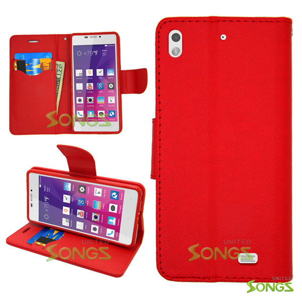 BLU Vivo Air D980L Wallet Case Red
