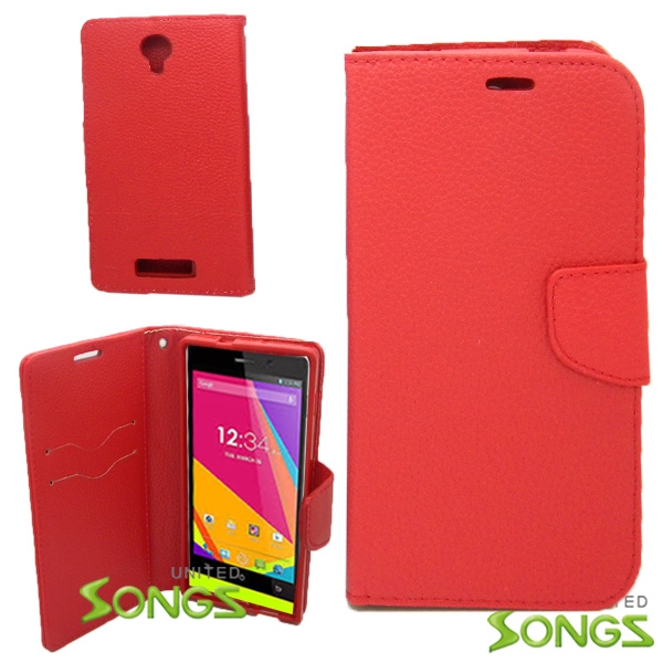 BLU Life8 /L280 Wallet Case Red