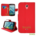 BLU Studio X Plus D770u Wallet Case Red