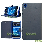 HTC Desire 820 Wallet Case Blue