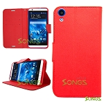 HTC Desire 820 Wallet Case Red