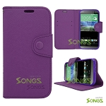 HTC ONE M8 Wallet Case Case Purple