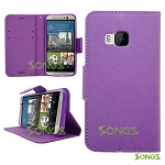 HTC One M9 Wallet Case Purple