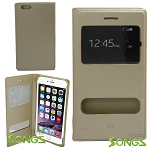 iPhone 6 Flip Case Gold