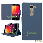 LG H443 H445 C70 Spirit Escape2 Logos H550F Wallet Case Blue