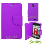 LG F70/L31L/D315 Wallet Case Purple