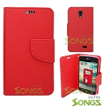 LG F70/L31L/D315 Wallet Case  Red