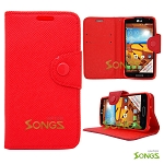 LG LS740 Volt F90 (Sprint/Boost Mobile/Virgin Mobile) Wallet Case Red