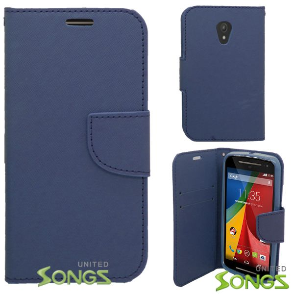 Motorola G(2nd-Gen) Wallet Case Blue