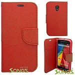 Motorola G(2nd-Gen) Wallet Case Red