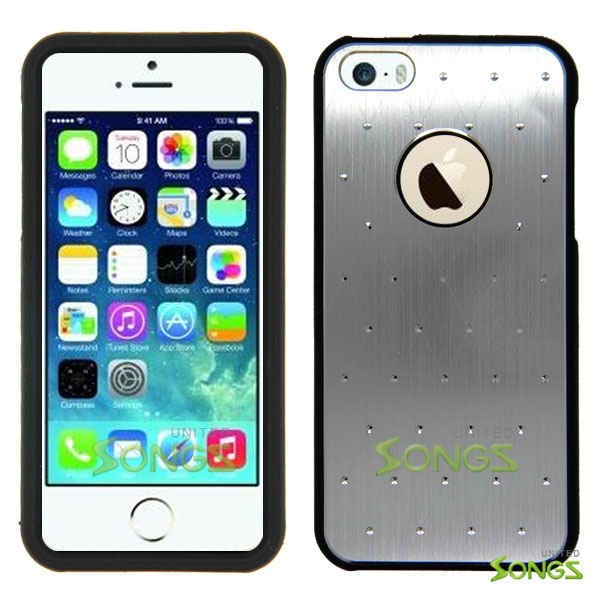 iPhone 5 Metal Stars Case Silver/Black
