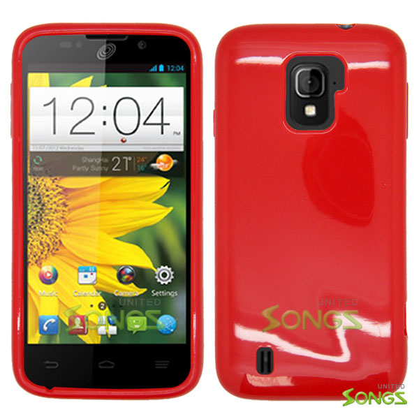 ZTE Majesty Z796C TPU(Gel) Case Red