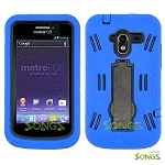 ZTE N9120 Avid 4G Heavy Duty Case with Kickstand  Blue/Black