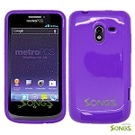 ZTE N9120 Avid 4G Heavy Duty Case with Kickstand Purple/White