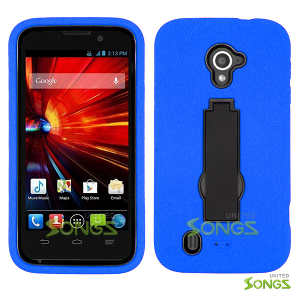 ZTE Source N9511 Majesty Z796C Heavy Duty Case with Kickstand Blue/Black