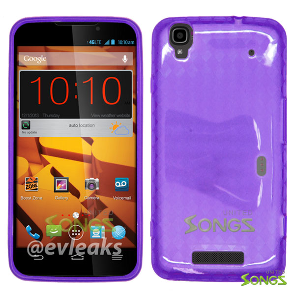ZTE Boost Max N9520  TPU(Gel) Case Purple