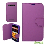 ZTE  Warp Sync/N9515 Wallet Case Purple