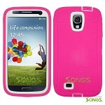 Samsung Galaxy S4 Heavy Duty Case With Screen Protector Pink/White