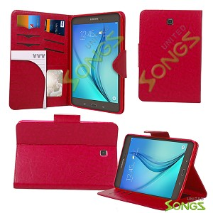 Samsung Galaxy Tab S2 (8.0-inch) T710 Wallet Case Red