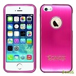iPhone 5 5S Metal Back Case High Pink/High Pink