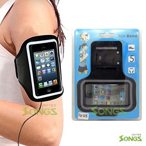 iPhone 5S 5C Water Proof Armband Black