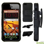 ZTE N9515 Hybrid Kickstand Case with Hostel Belt Clip Black/Black