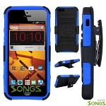 ZTE N9515 Hybrid Kickstand Case with Hostel Belt Clip Black/Blue