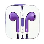 iPhone 6/SE/5/4 Series Earphone with MIC and Volume Control Purple