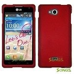 LG Spirit MS870 Hard Normal Case Red