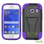 Samsung Galaxy Ace Style S765C (Unlocked) Hybrid Kickstand Case  Black/Purple
