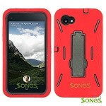 HTC First (AT&T) Heavy Duty Case with Kickstand Red/Black