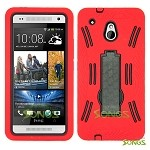 HTC One mini M4 Heavy Duty Case with Kickstand Red/Black