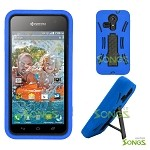Kyocera Hydro VIBE C6725 (Sprint, Virgin Mobile) Heavy Duty Case with Kickstand Blue/Black