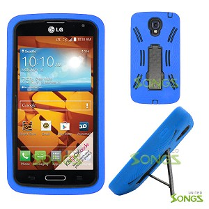 LG LS740 Volt F90 (Sprint/Boost Mobile/Virgin Mobile) Heavy Duty Case with Kickstand Blue/Black