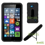 Nokia Lumia 640 Heavy Duty Case with Kickstand Black/Black