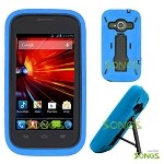 ZTE Concord II Z730(T-mobile, MetroPCS) Heavy Duty Case with Kickstand Blue/Black