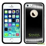 iPhone 5 5S Metal Back Rubber Side Case Black/Black