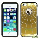 iPhone 5 5S SpiderMan Metal Design Case Yellow/Black
