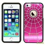 iPhone 5 5S SpiderMan Metal Design Case High Pink/Black