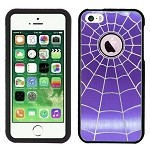 iPhone 5 5S SpiderMan Metal Design Case Purple/Black