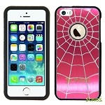 iPhone 5 5S SpiderMan Metal Design Case Red/Black