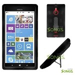 Nokia Lumia 1520 (AT&T) Heavy Duty Case with Kickstand Black/Black