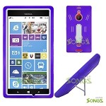 Nokia Lumia 1520 (AT&T) Heavy Duty Case with Kickstand Purple/White