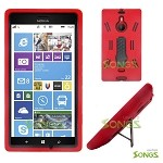 Nokia Lumia 1520 (AT&T) Heavy Duty Case with Kickstand Red/Black