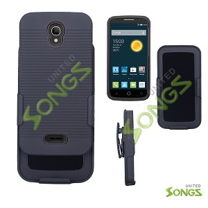 Alcatel OneTouch POP Astro 5042T Super Combo with Clip Case Black/Black