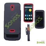 Alcatel OneTouch POP Astro 5042T Super Combo with Clip Case Black/Red