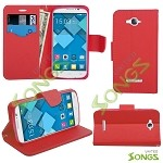 Alcatel One Touch C7 Pop 7040D Wallet Case Red