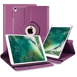 New iPad Air 2019/iPad Pro 10.5 Inch 360 Degree Rotating Leather Case Purple