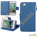 iPhone 5S/5/SE Wallet Case Blue